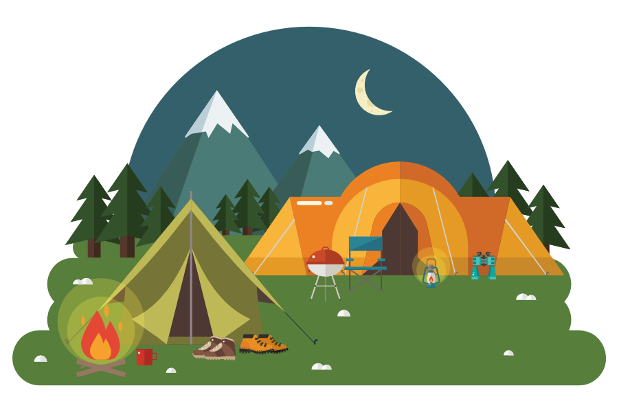 Tent Pitches in 2020