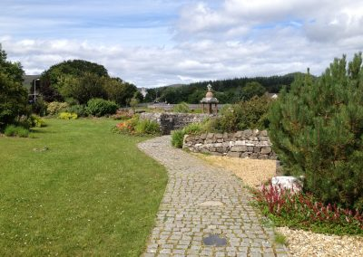 Broadford seafront garden