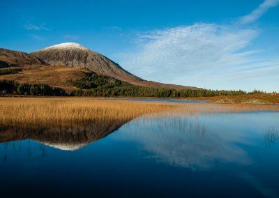 Beinn na Caillich - Reflected in Loch Cill Chriosd.