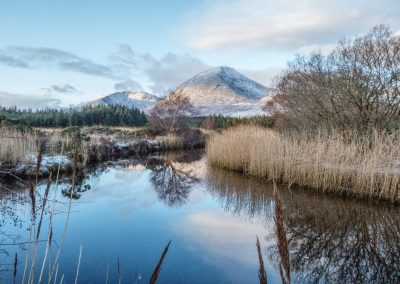 Broadford River - Beinn na Caillich in winter.