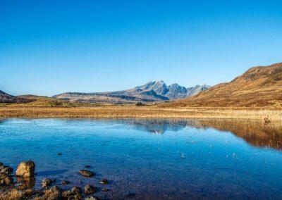 Loch Cill Chriosd - Blaven reflected in the loch.
